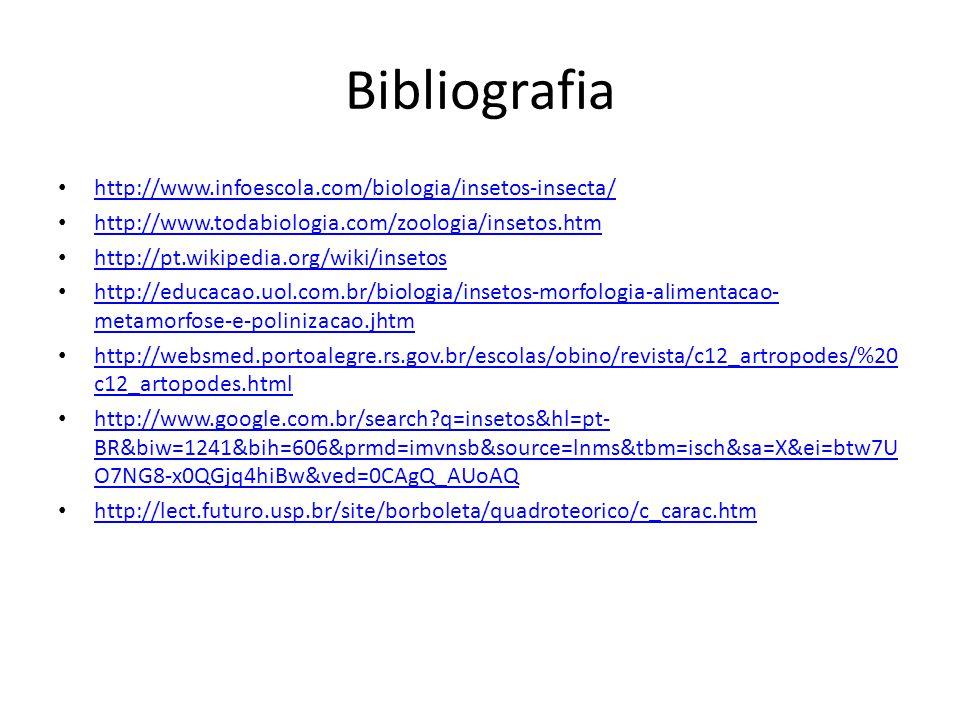 Bibliografia http://www.infoescola.com/biologia/insetos-insecta/