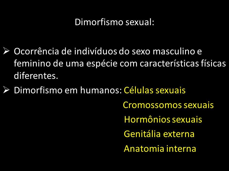 Dimorfismo em humanos: Células sexuais Hormônios sexuais