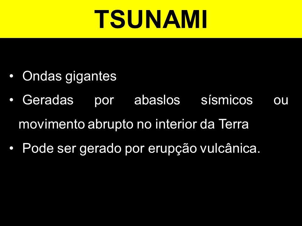 TSUNAMI Ondas gigantes