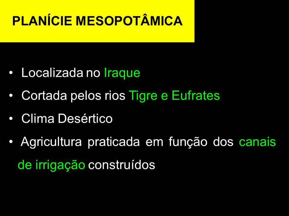 PLANÍCIE MESOPOTÂMICA