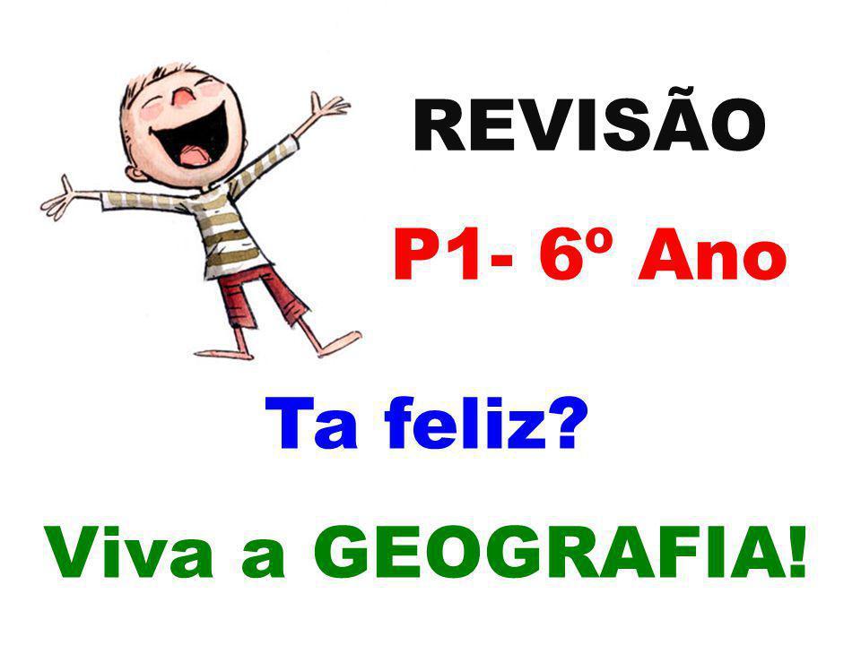 REVISÃO P1- 6º Ano Ta feliz Viva a GEOGRAFIA!