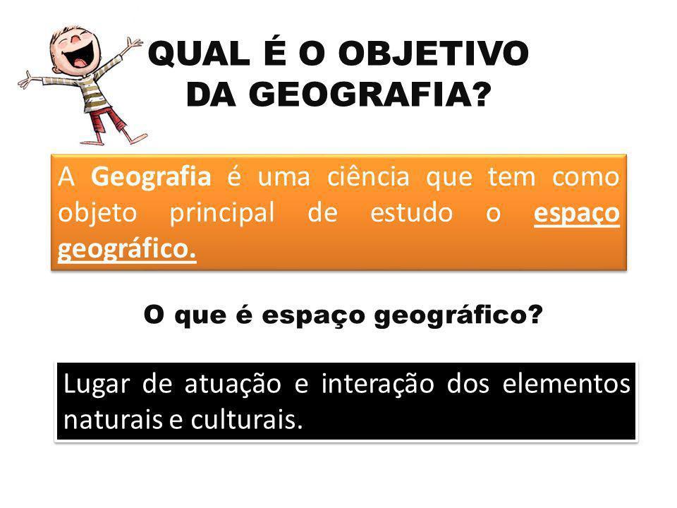 QUAL É O OBJETIVO DA GEOGRAFIA