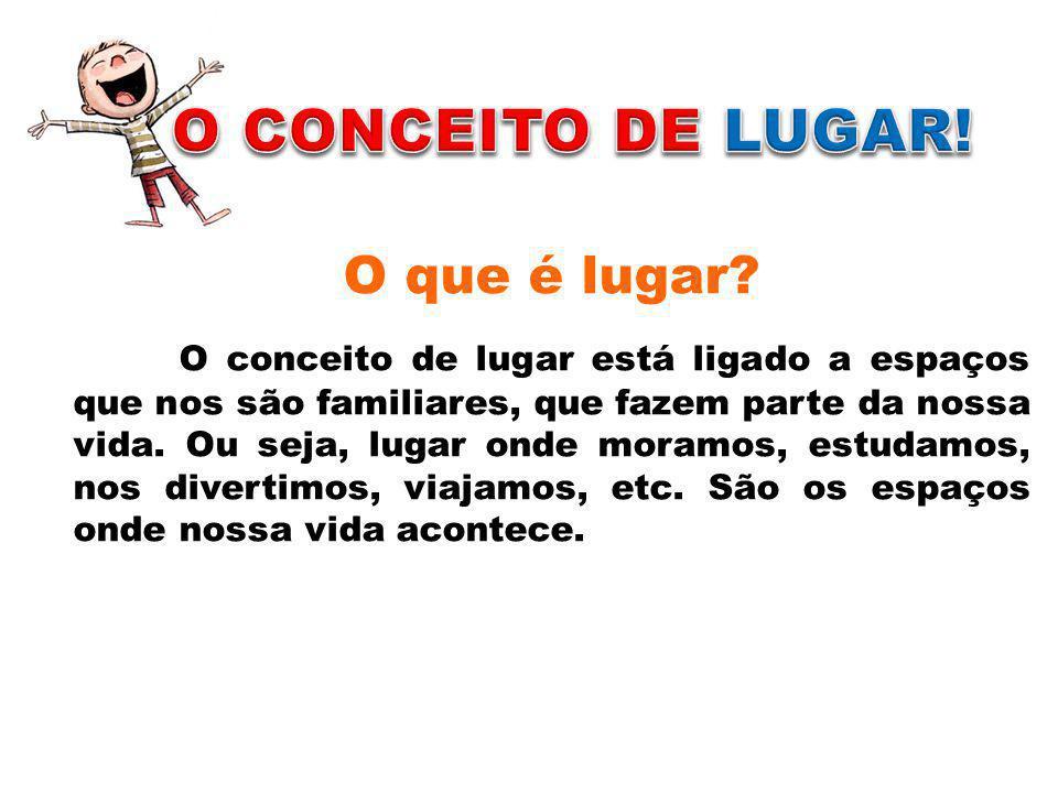 O CONCEITO DE LUGAR! O que é lugar