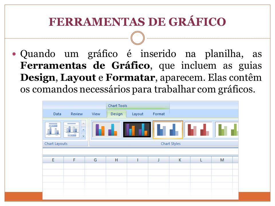 FERRAMENTAS DE GRÁFICO
