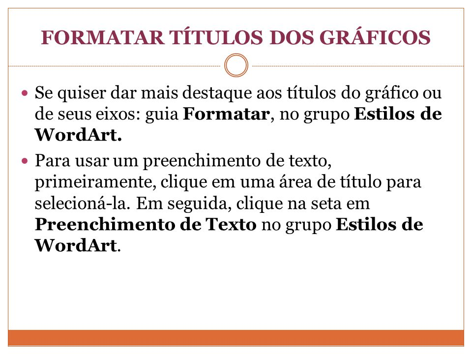 FORMATAR TÍTULOS DOS GRÁFICOS
