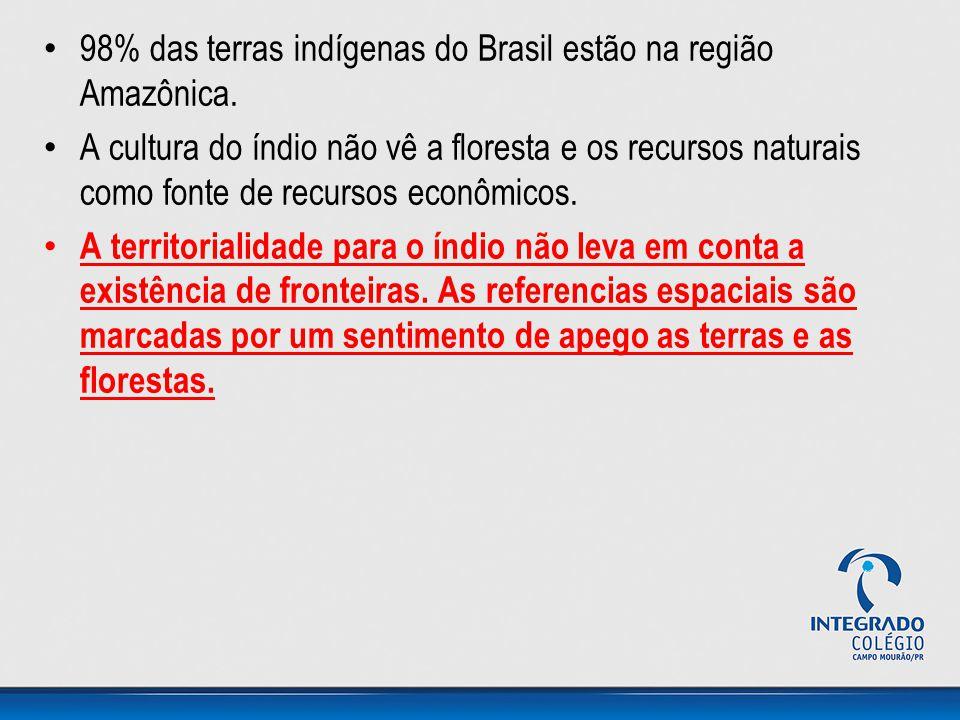 98% das terras indígenas do Brasil estão na região Amazônica.