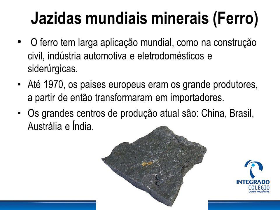 Jazidas mundiais minerais (Ferro)