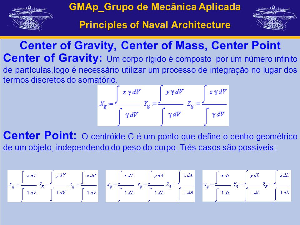 Center of Gravity, Center of Mass, Center Point