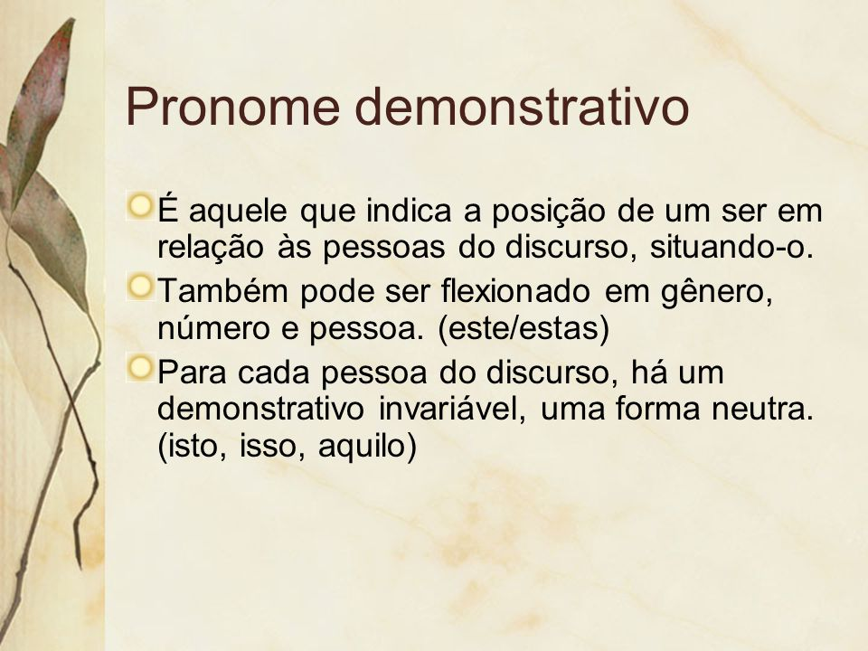 Pronome demonstrativo