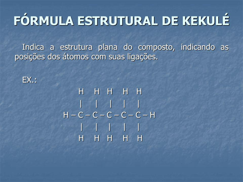 FÓRMULA ESTRUTURAL DE KEKULÉ