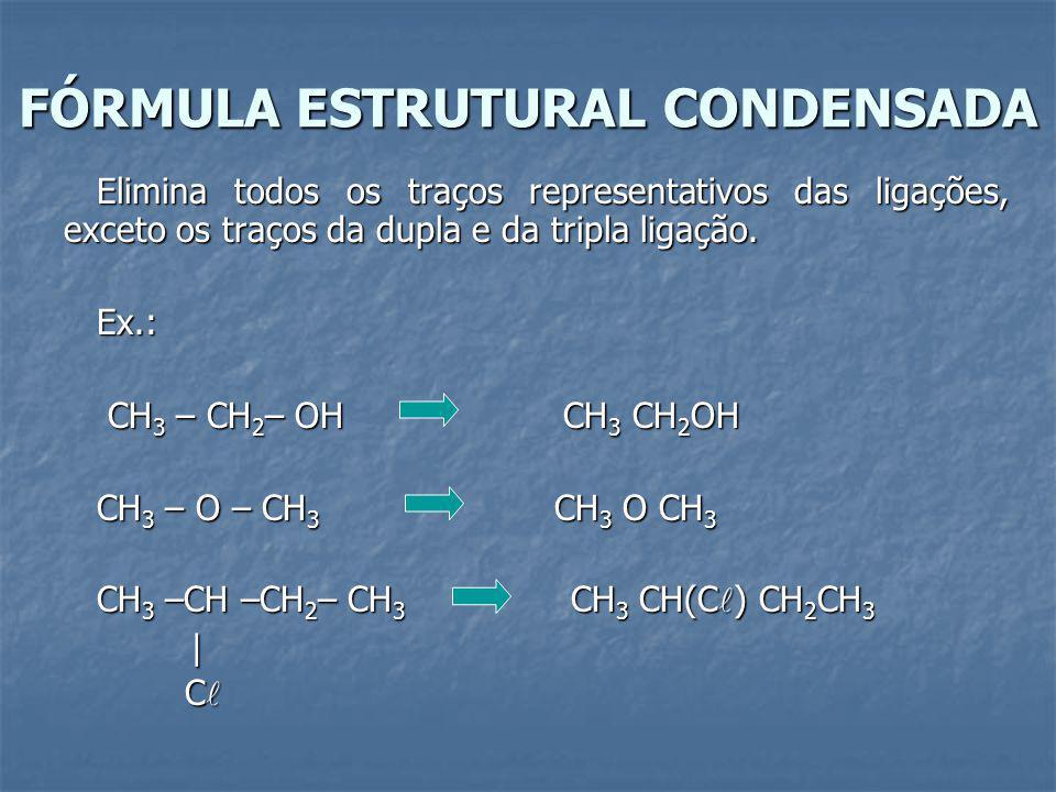 FÓRMULA ESTRUTURAL CONDENSADA