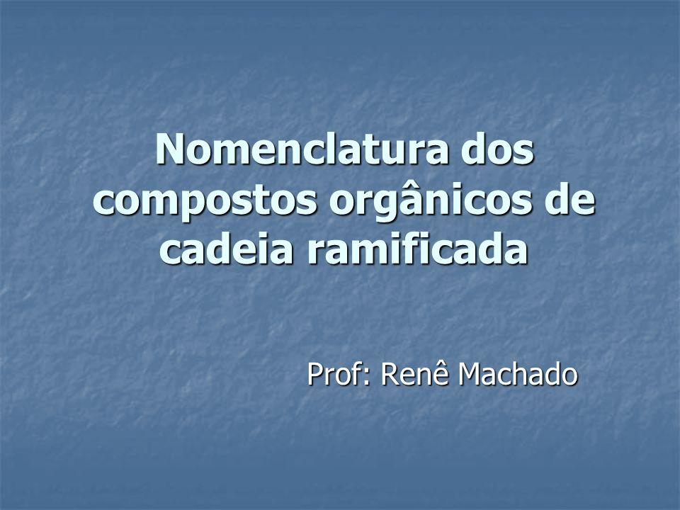 Nomenclatura dos compostos orgânicos de cadeia ramificada