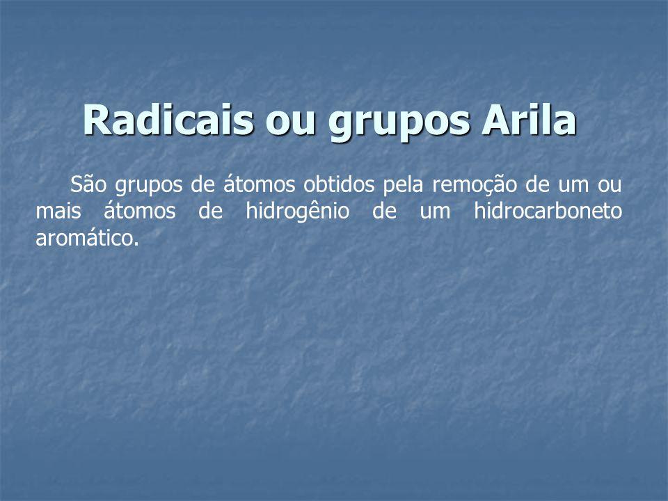 Radicais ou grupos Arila