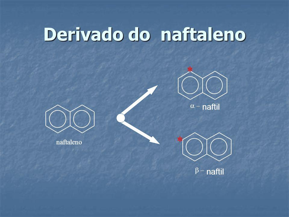 Derivado do naftaleno * a - naftil * naftaleno b - naftil