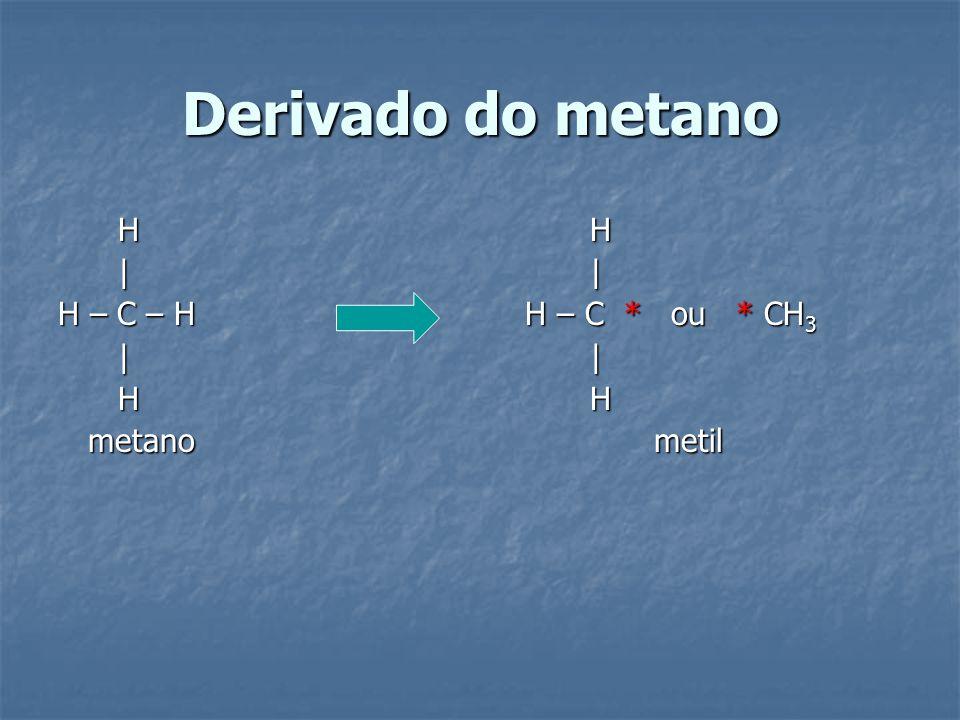 Derivado do metano H H. | |