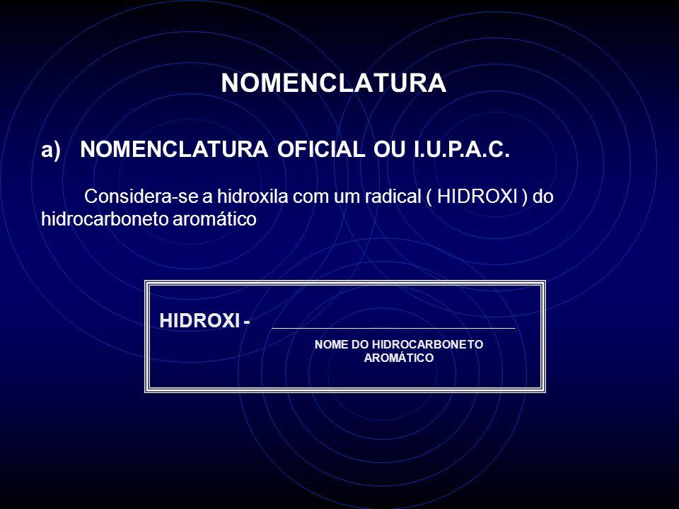 NOME DO HIDROCARBONETO AROMÁTICO