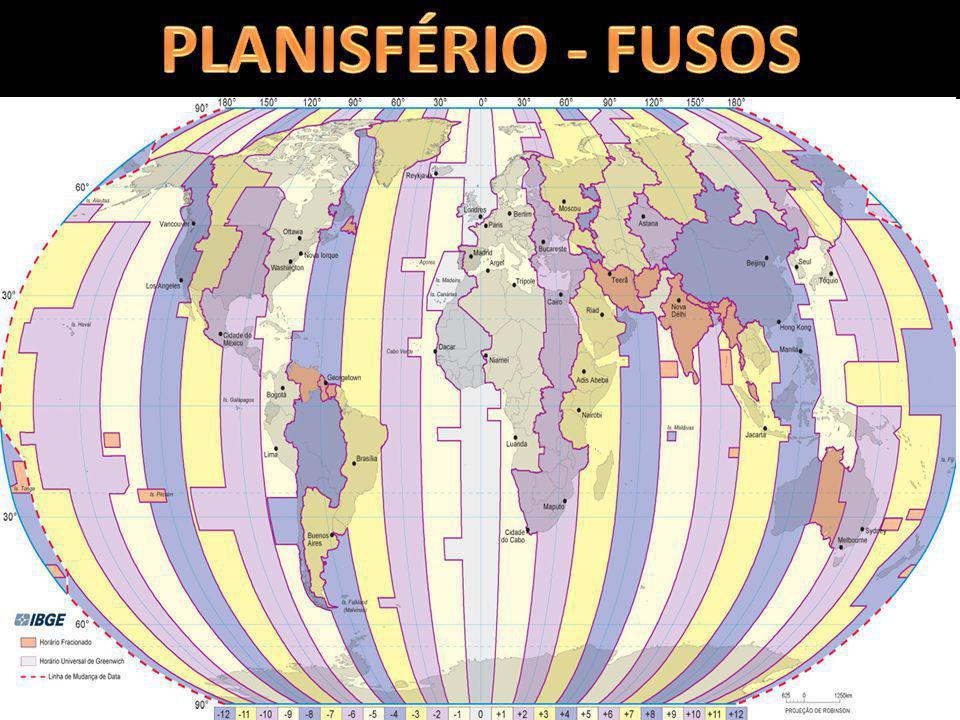 PLANISFÉRIO - FUSOS