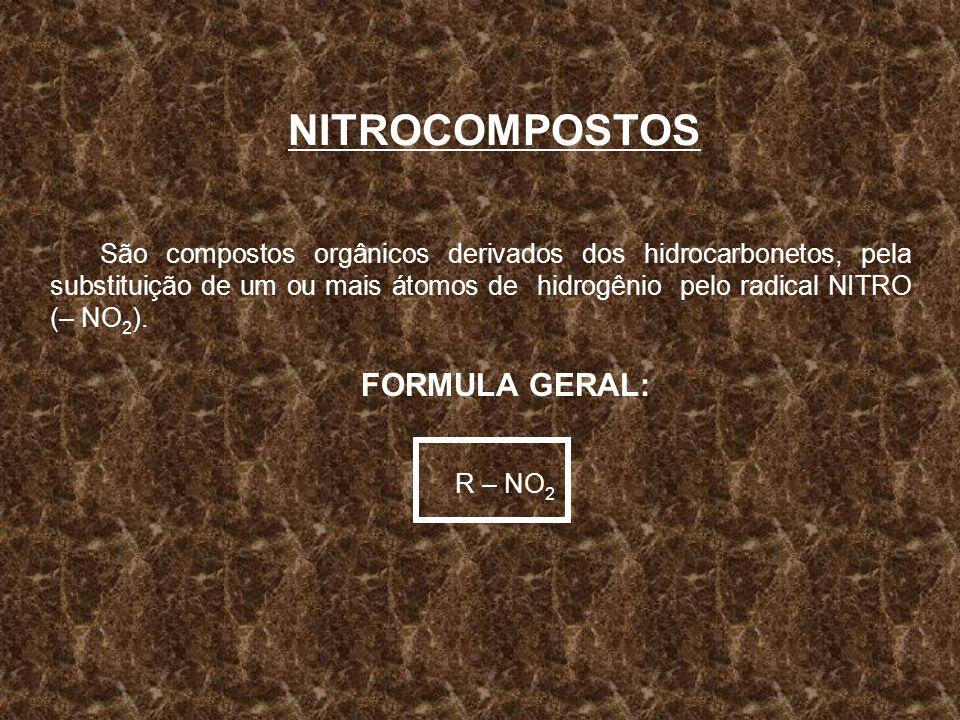 NITROCOMPOSTOS FORMULA GERAL: