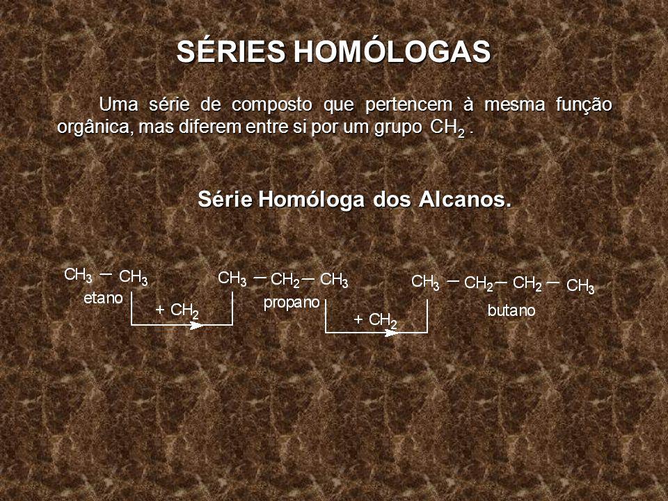 Série Homóloga dos Alcanos.