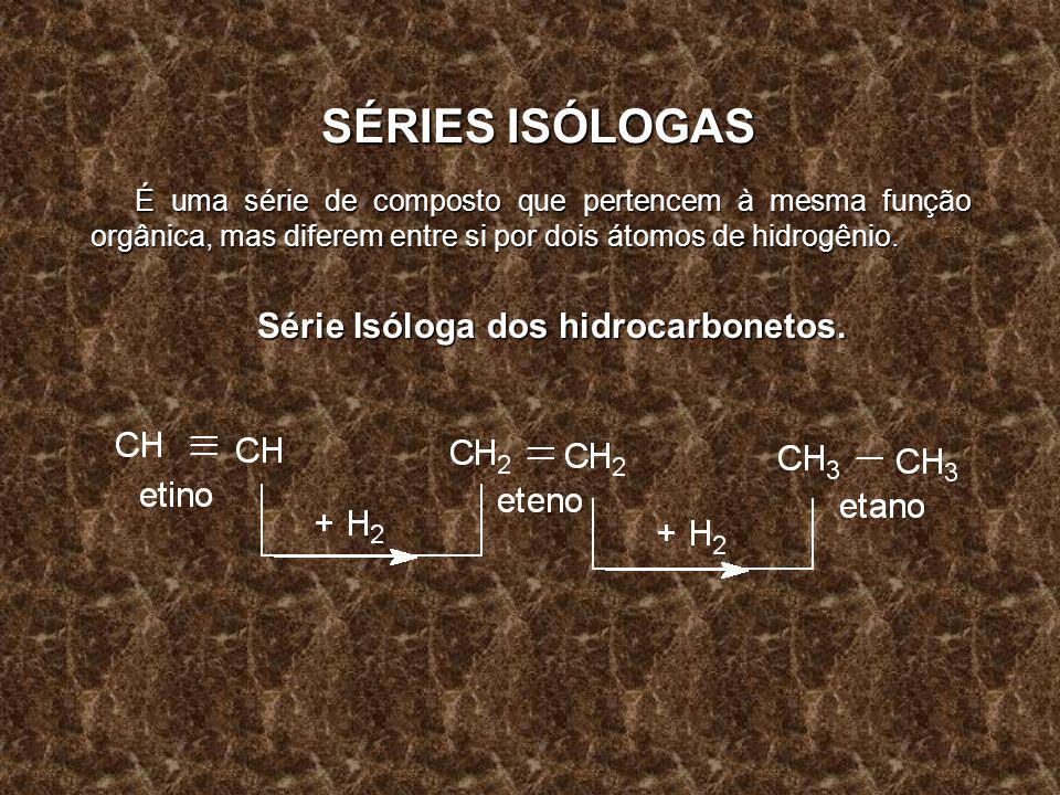 Série Isóloga dos hidrocarbonetos.