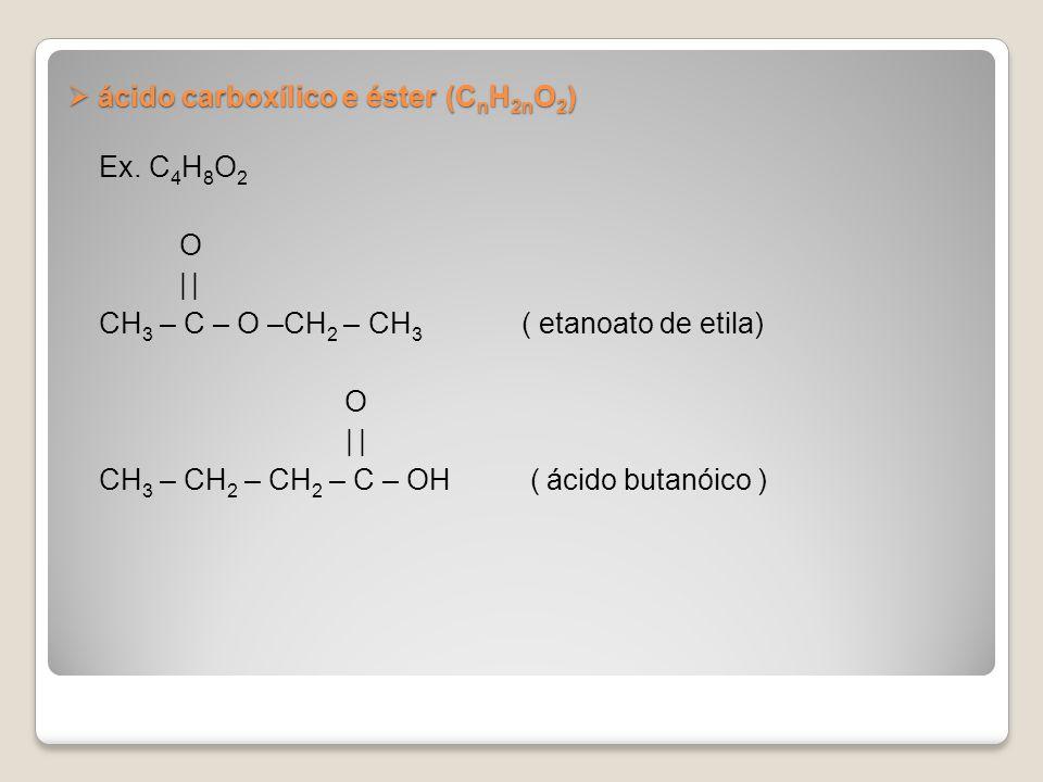 ácido carboxílico e éster (CnH2nO2)