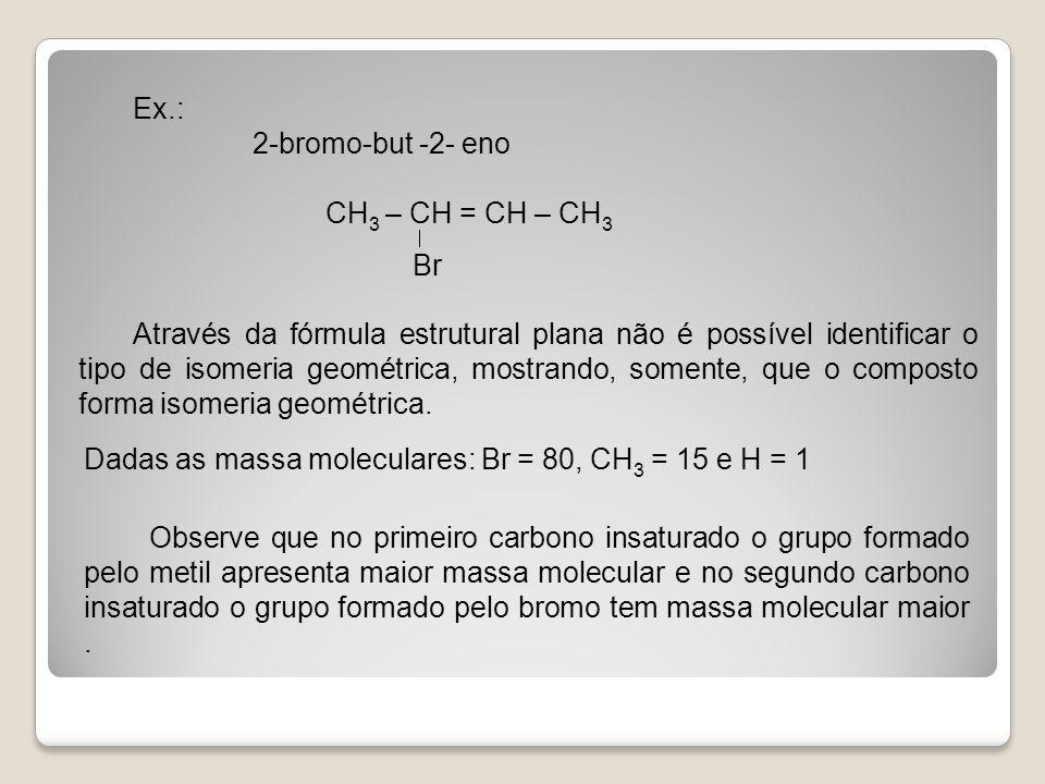 Ex.: 2-bromo-but -2- eno CH3 – CH = CH – CH3  Br