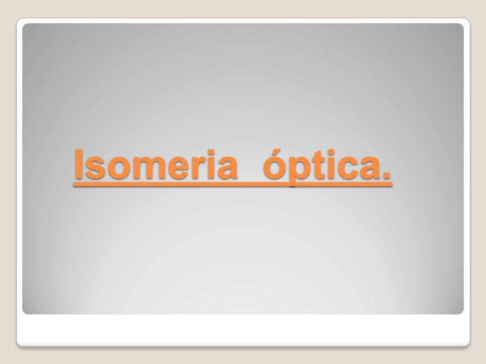 Isomeria óptica.