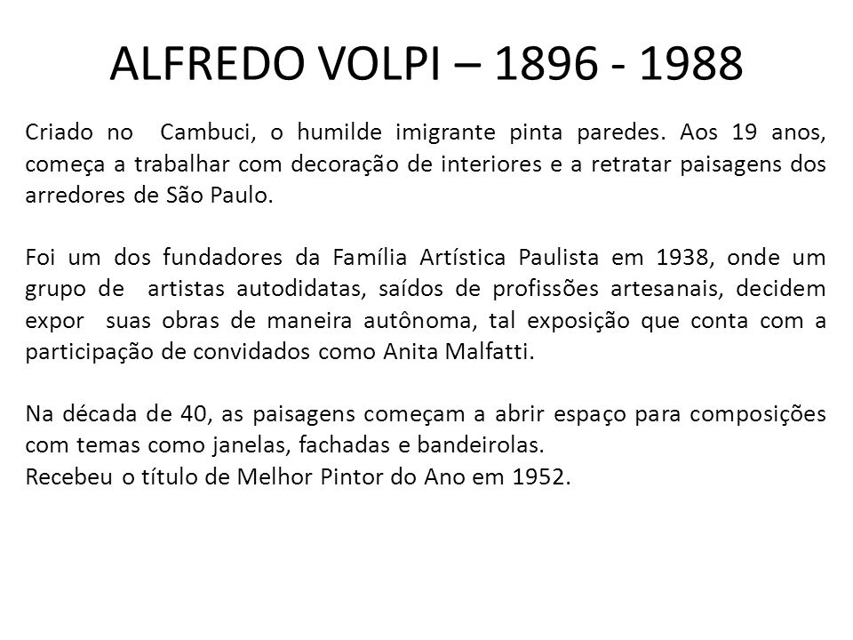 ALFREDO VOLPI – 1896 - 1988