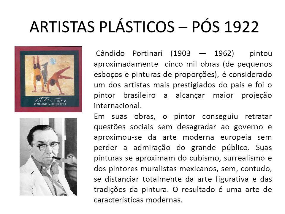 ARTISTAS PLÁSTICOS – PÓS 1922