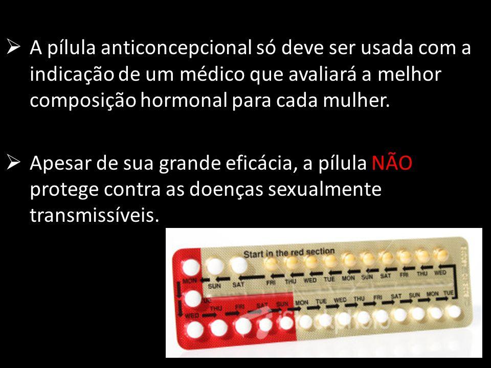 A pílula anticoncepcional só deve ser usada com a indicação de um médico que avaliará a melhor composição hormonal para cada mulher.