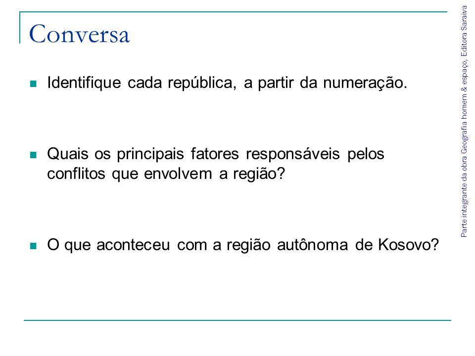 Conversa Identifique cada república, a partir da numeração.