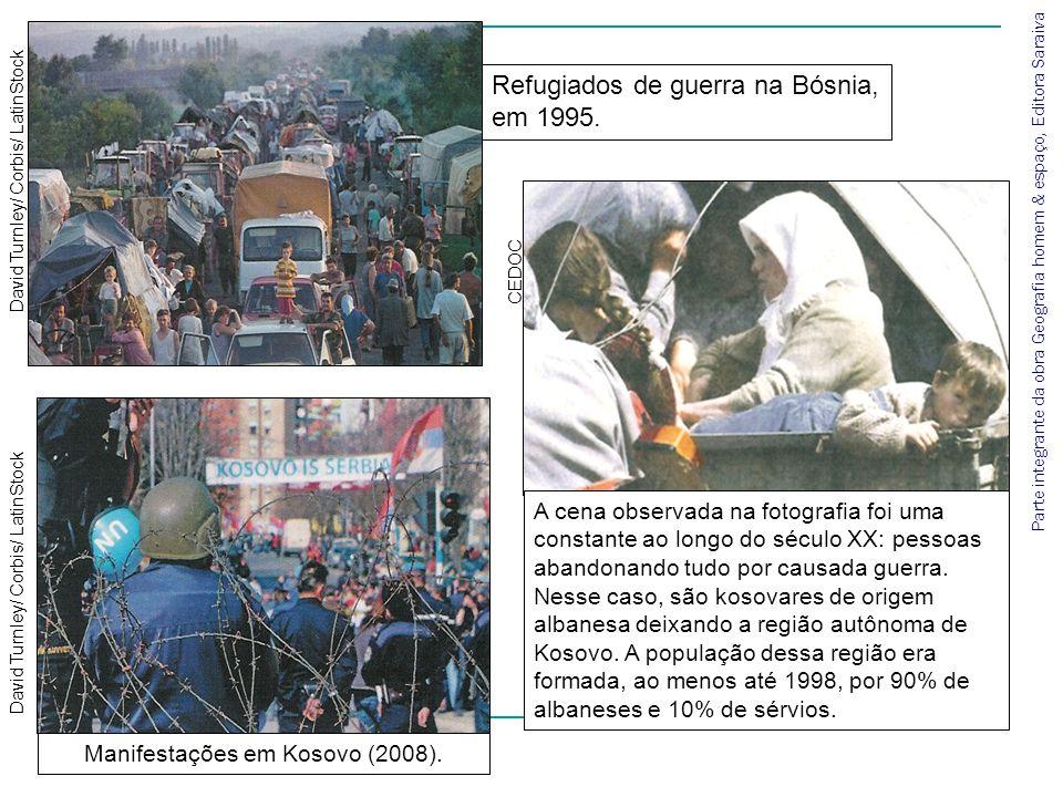 Manifestações em Kosovo (2008).