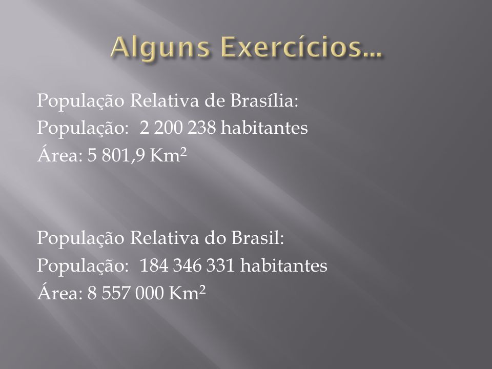 Alguns Exercícios...