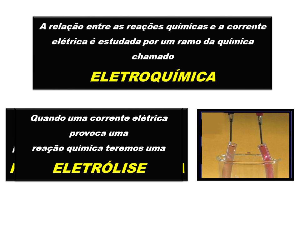 ELETROQUÍMICA PILHA ELETROQUÍMICA ELETRÓLISE