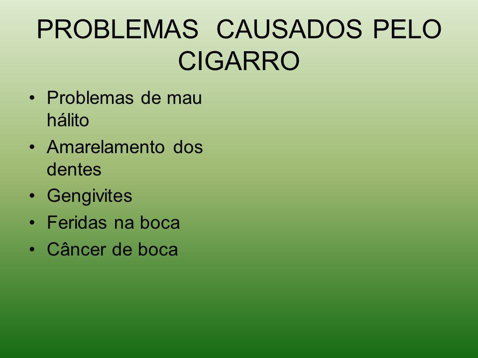 PROBLEMAS CAUSADOS PELO CIGARRO