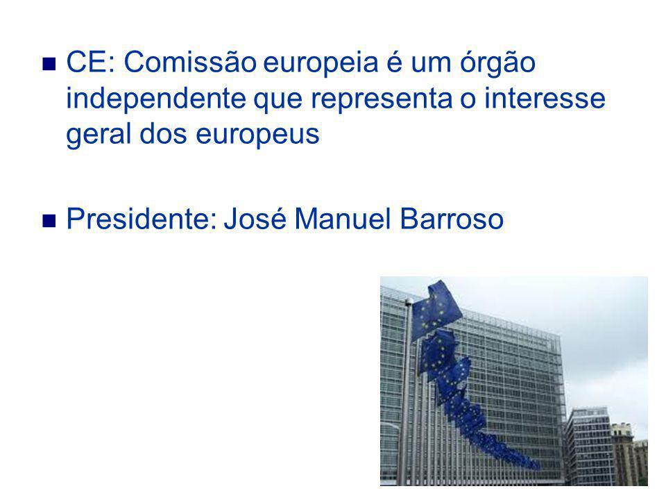 CE: Comissão europeia é um órgão independente que representa o interesse geral dos europeus