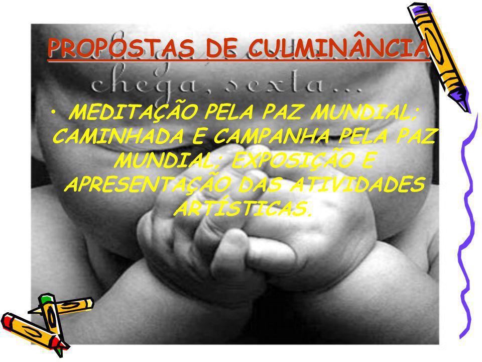 PROPOSTAS DE CULMINÂNCIA