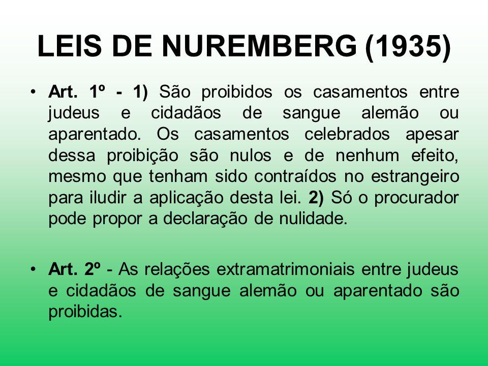 LEIS DE NUREMBERG (1935)