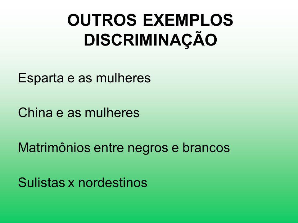 OUTROS EXEMPLOS DISCRIMINAÇÃO