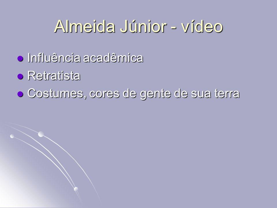 Almeida Júnior - vídeo Influência acadêmica Retratista