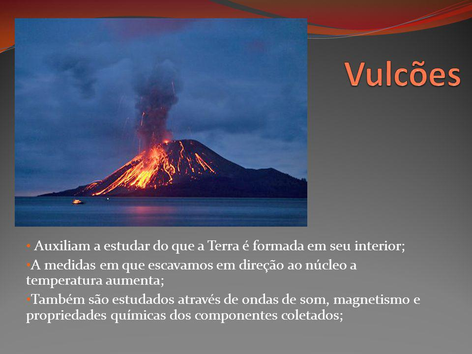 Vulcões Auxiliam a estudar do que a Terra é formada em seu interior;
