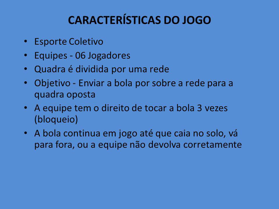 CARACTERÍSTICAS DO JOGO