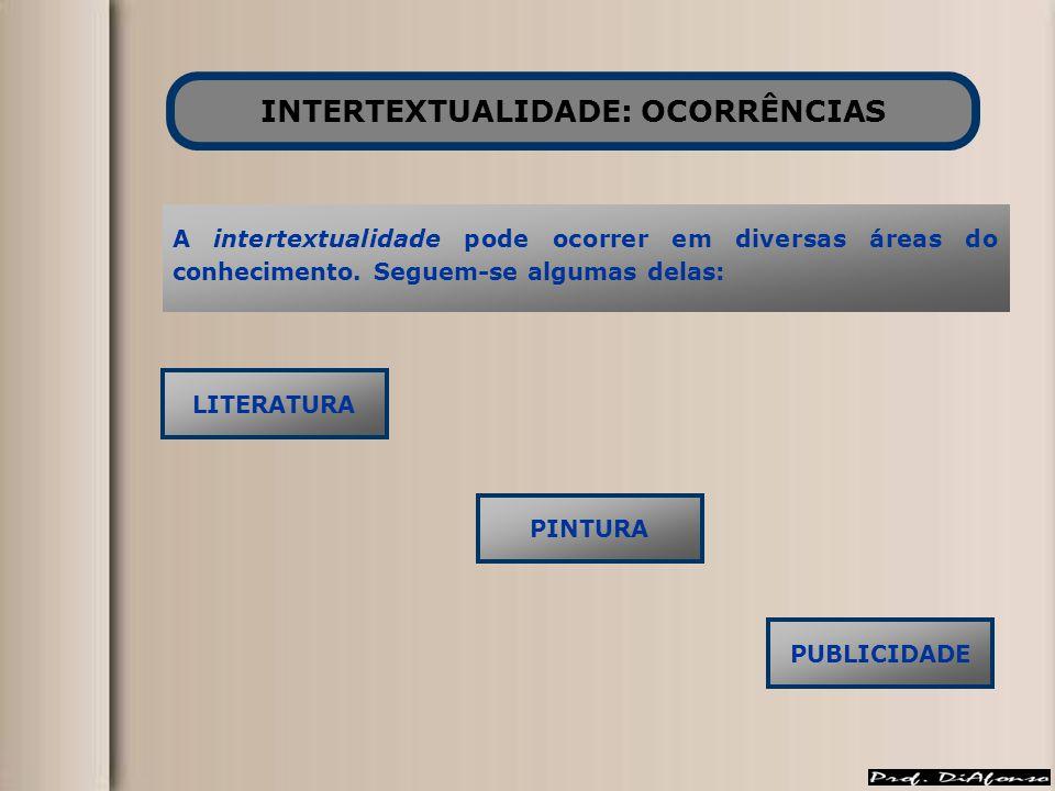 INTERTEXTUALIDADE: OCORRÊNCIAS