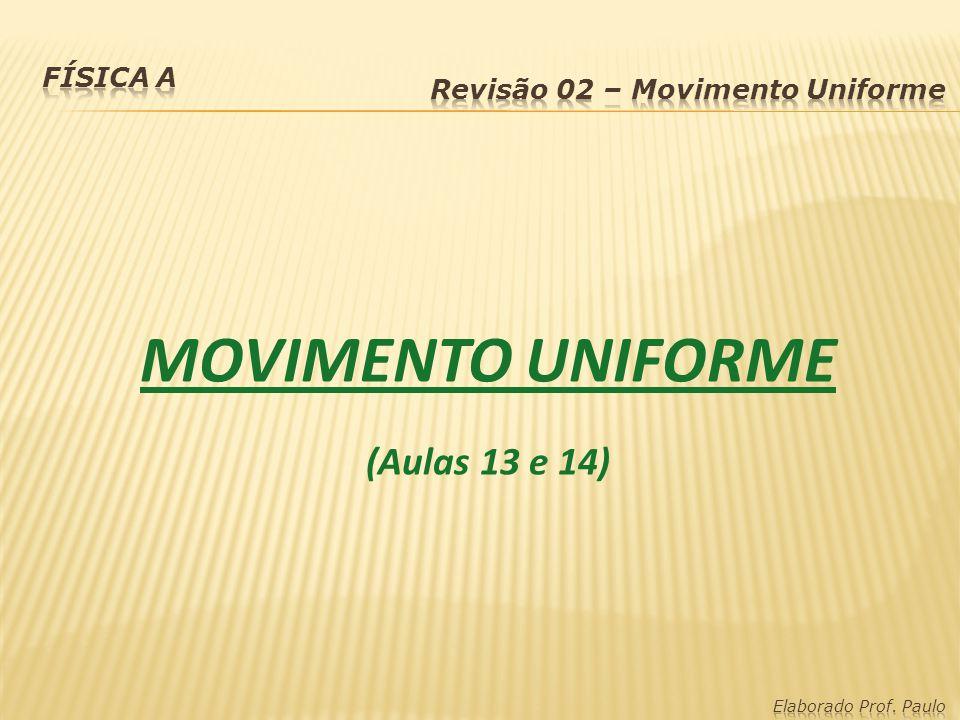 MOVIMENTO UNIFORME (Aulas 13 e 14) Física A