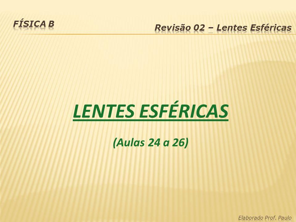 LENTES ESFÉRICAS (Aulas 24 a 26) Física B