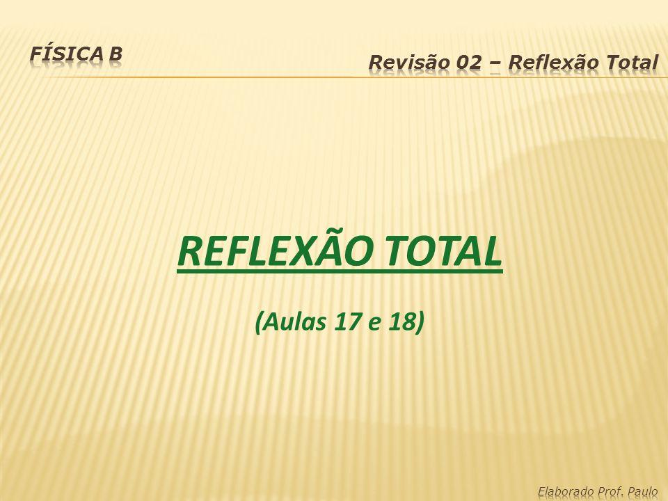REFLEXÃO TOTAL (Aulas 17 e 18) Física B Revisão 02 – Reflexão Total