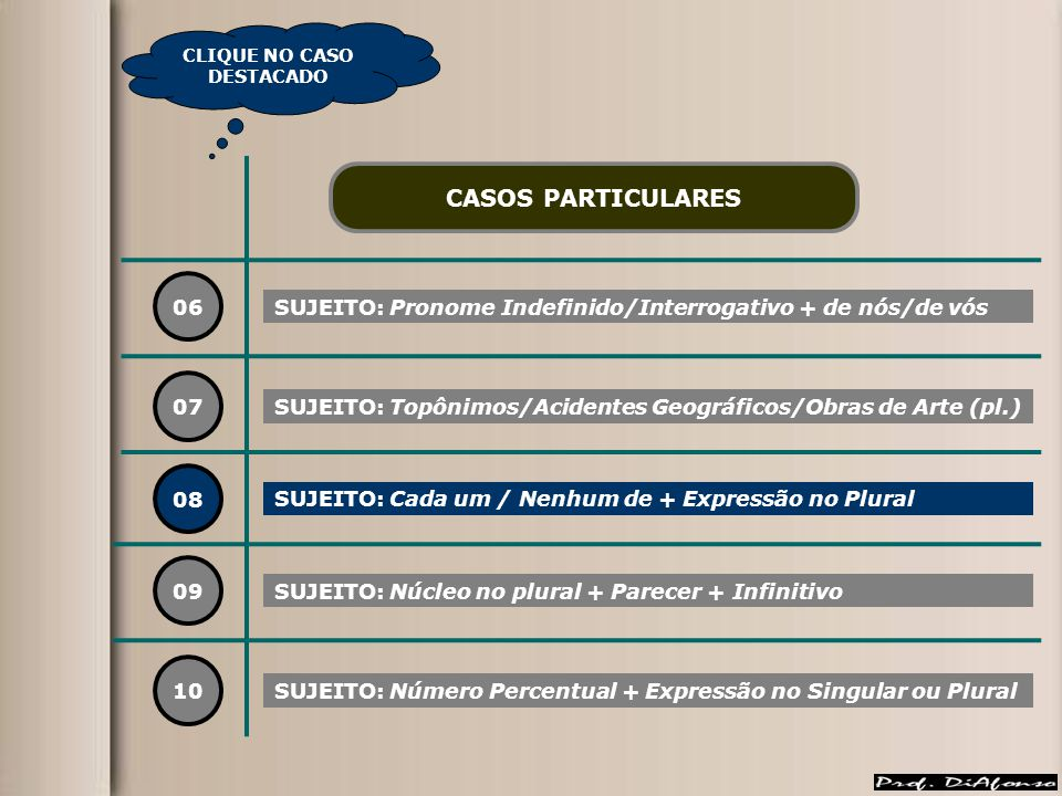 CLIQUE NO CASO DESTACADO