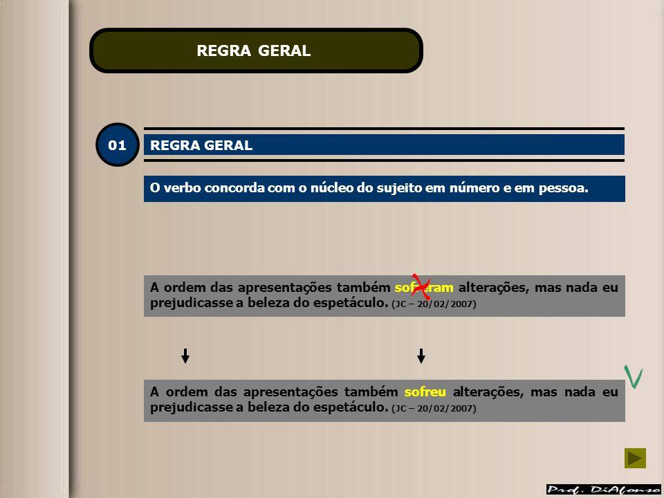 REGRA GERAL 01 REGRA GERAL