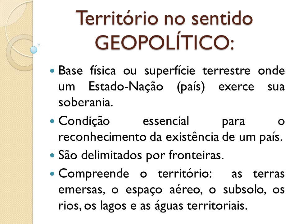 Território no sentido GEOPOLÍTICO: