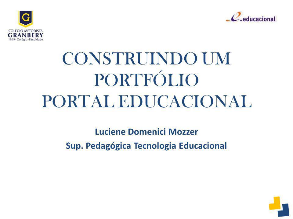 CONSTRUINDO UM PORTFÓLIO PORTAL EDUCACIONAL
